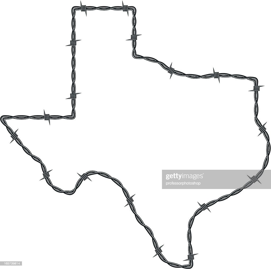 barbed wire texas vector art getty images rh gettyimages com texas map outline vector texas outline vector free