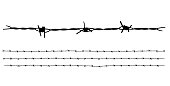 Barbed wire vector collection isolated on white background.