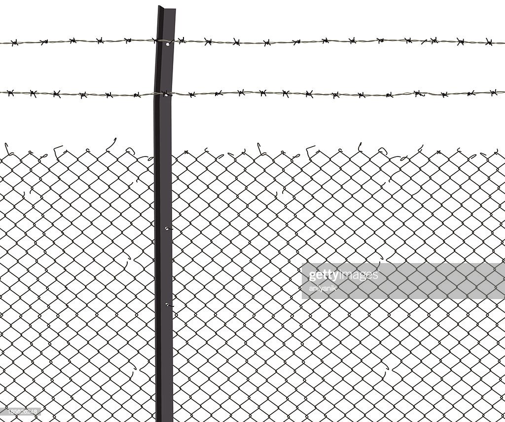 barbed wire : stock illustration