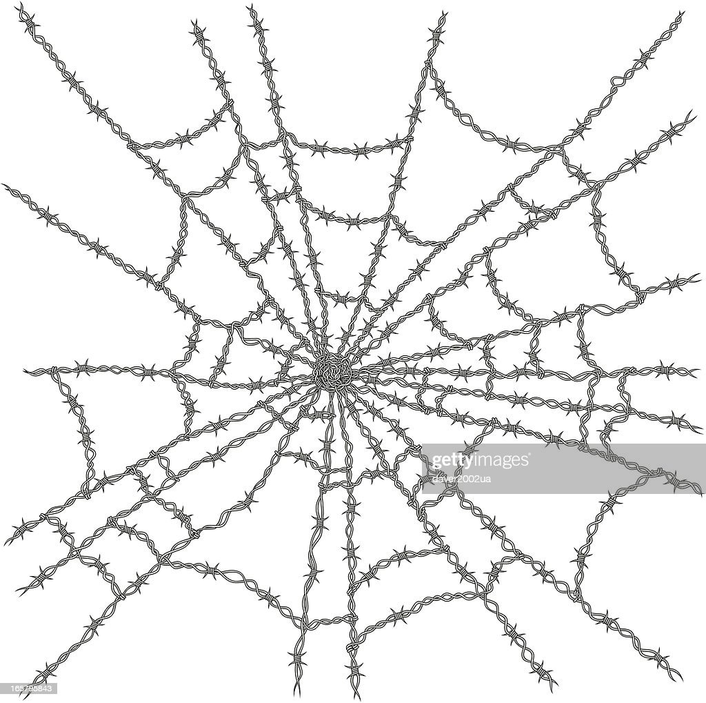 Barbed Wire Web Vector Art   Getty Images