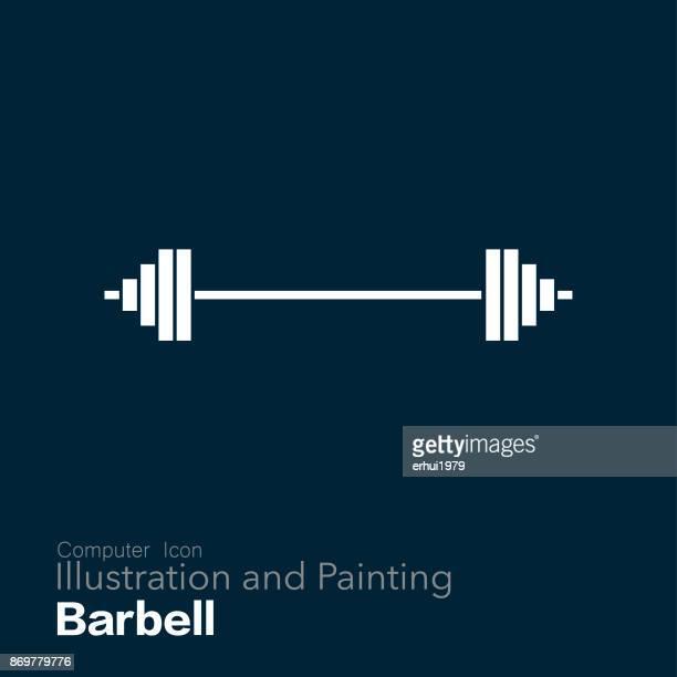 barbell - barbell stock illustrations, clip art, cartoons, & icons