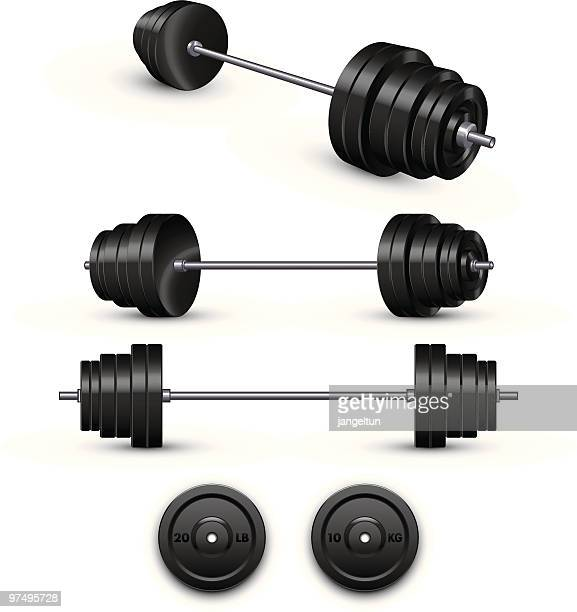 barbell - weight training stock illustrations
