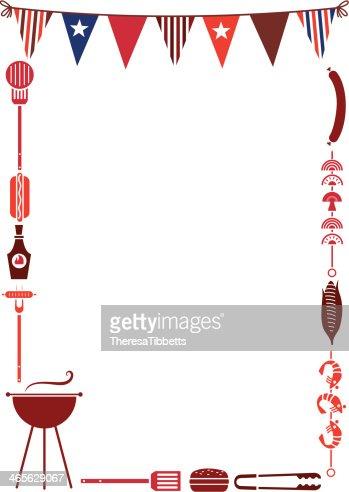 Barbeque Frame stock illustration - Getty Images