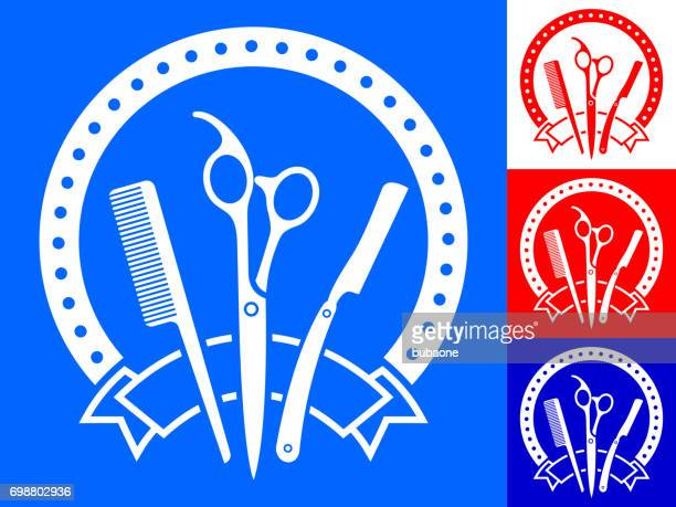 Peluquería y barbería Vector insignia