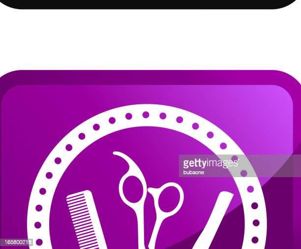 Barber tarjetas sin royalties de vector icon set pegatinas