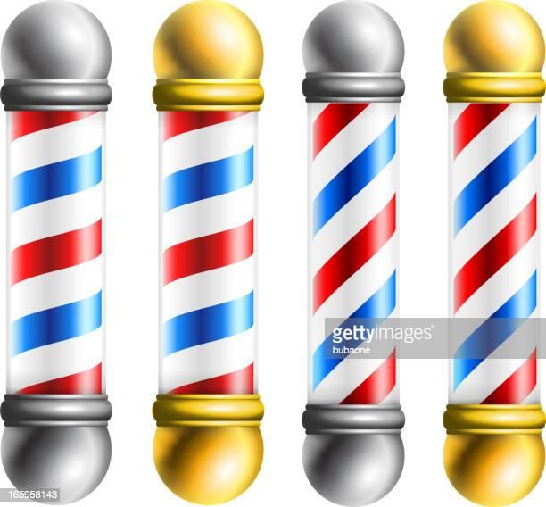 barber barbershop pole - barber pole stock illustrations