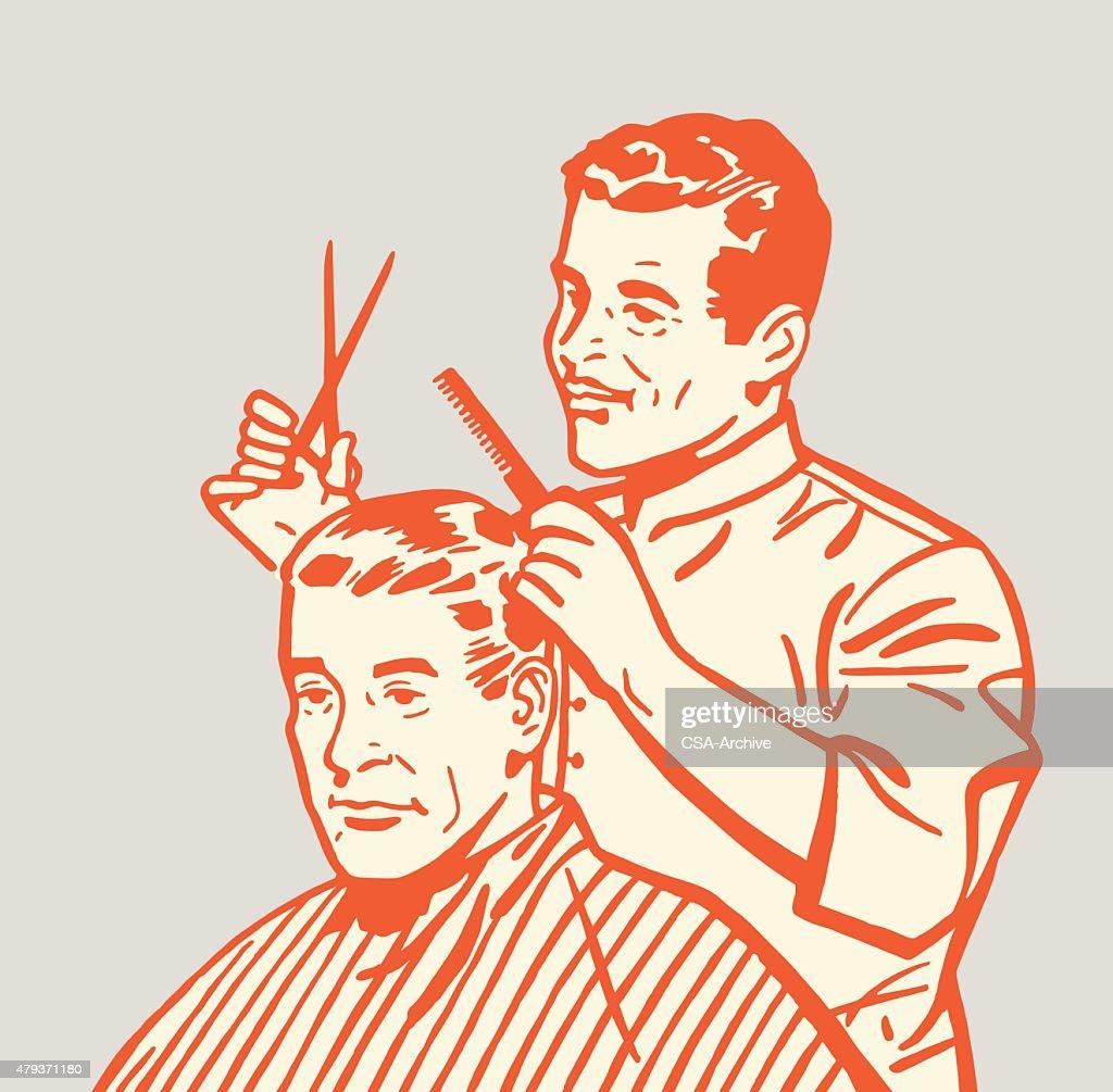 Barber Giving Haircut