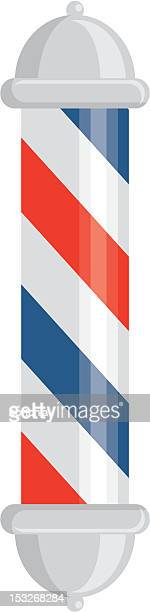 barber pole icon - barber pole stock illustrations