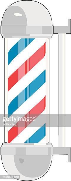 barber pole vector - barber pole stock illustrations
