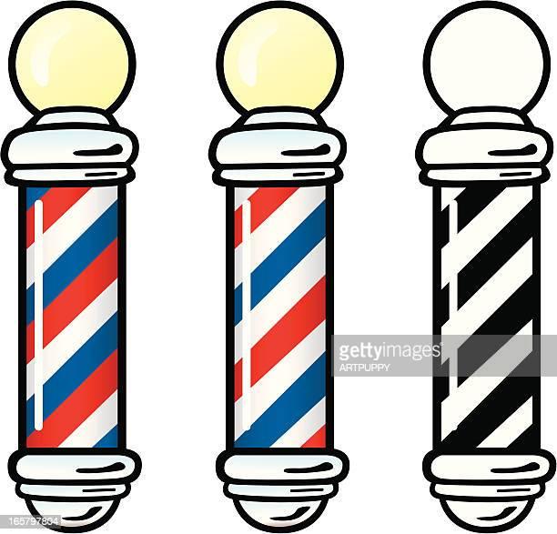 barber poles - barber pole stock illustrations