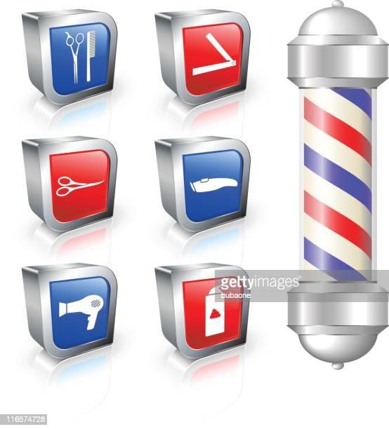 barber shop equipment royalty free vector arts - barber pole stock illustrations