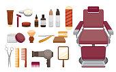 Barber Shop Equipments Set