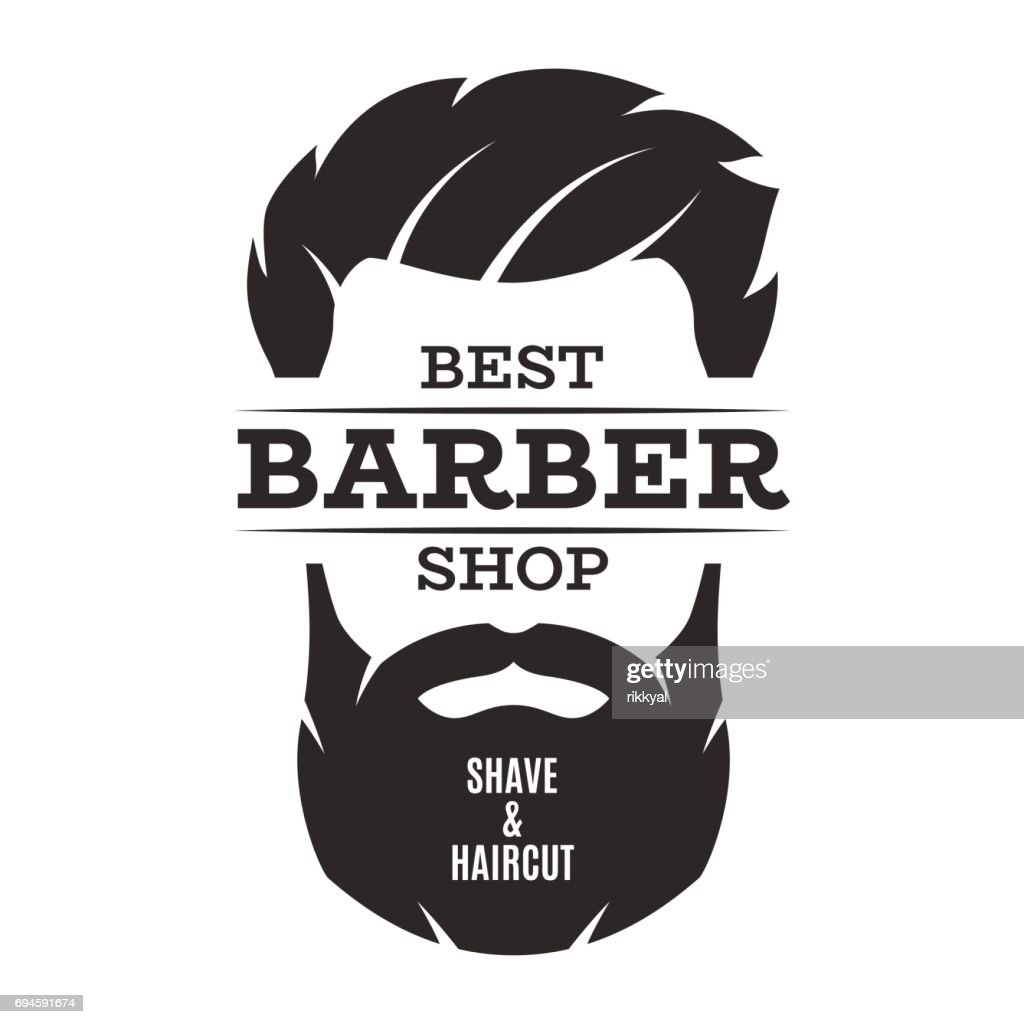 Barber shop isolated vintage label badge emblem.