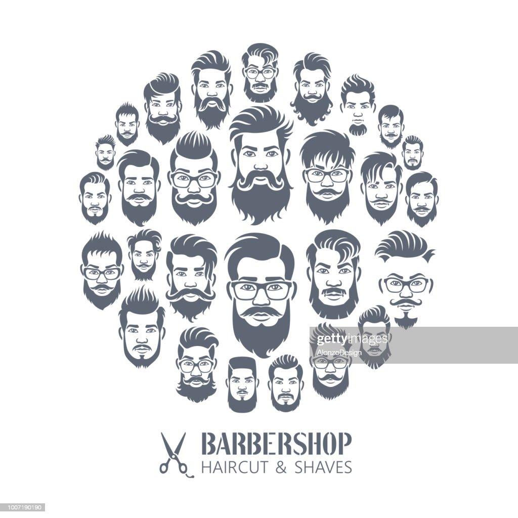 Barber shop Montage : stock illustration