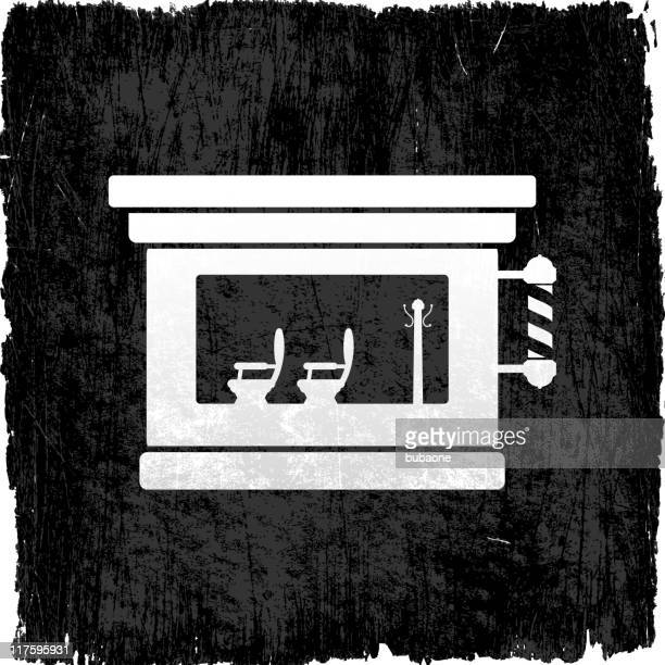 barber shop on royalty free vector background - wood stain stock illustrations, clip art, cartoons, & icons