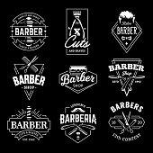 Barber Shop Vector Retro Emblems