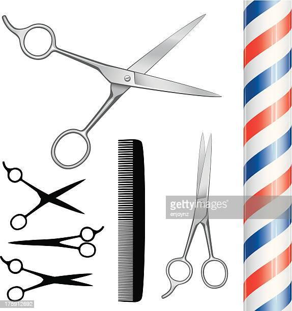 理髪店の機器 - 美容師点のイラスト素材/クリップアート素材/マンガ素材/アイコン素材