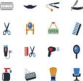 barbershop icon set