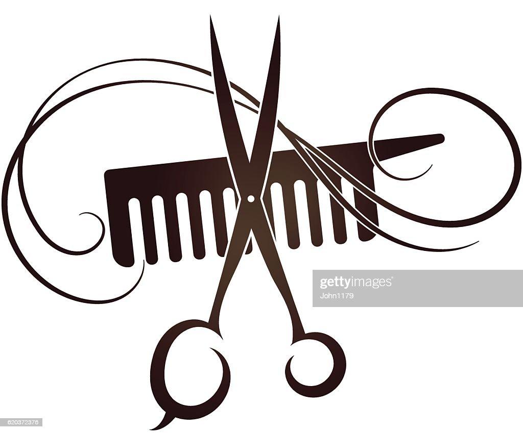 Barbershop symbol template icon