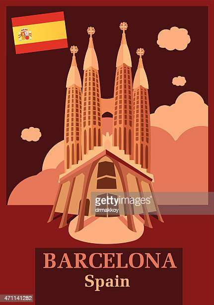 ilustrações, clipart, desenhos animados e ícones de de barcelona - spire