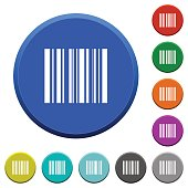 Barcode beveled buttons