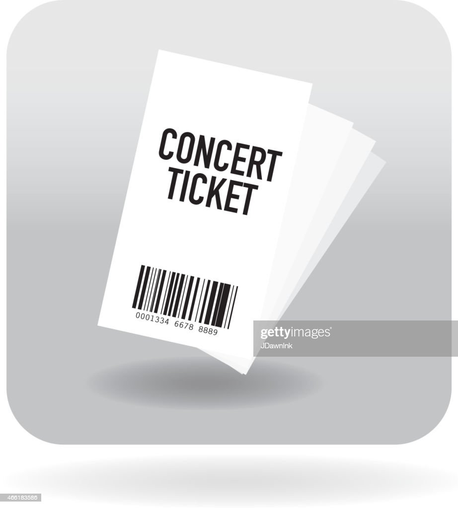 Barcode concert ticket icon