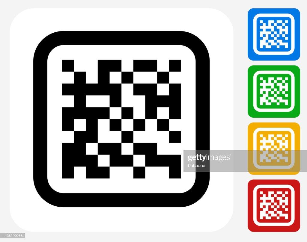 Barcode Icon Flat Graphic Design