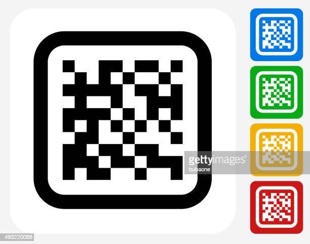 バーコードグラフィックデザインアイコンフラット - コード点のイラスト素材/クリップアート素材/マンガ素材/アイコン素材