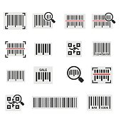 Barcode icon set