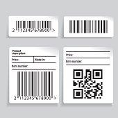 Barcode label vector set