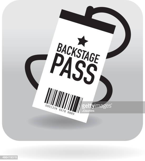 barcode meet and greet concert icon - security pass stock illustrations, clip art, cartoons, & icons