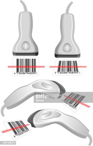 bar-code scanner - bar code reader stock illustrations, clip art, cartoons, & icons