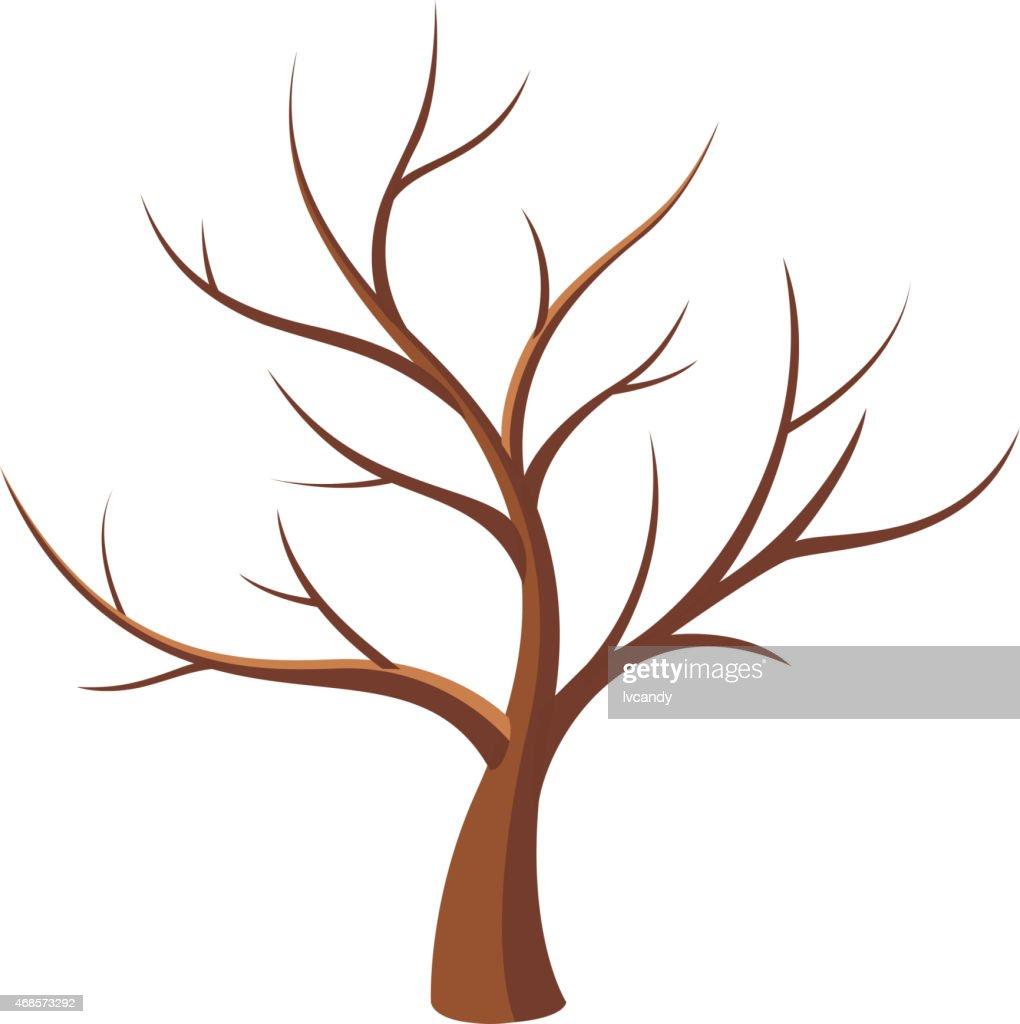 Bare tree : stock illustration