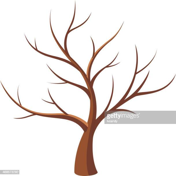 bare tree - bare tree stock illustrations