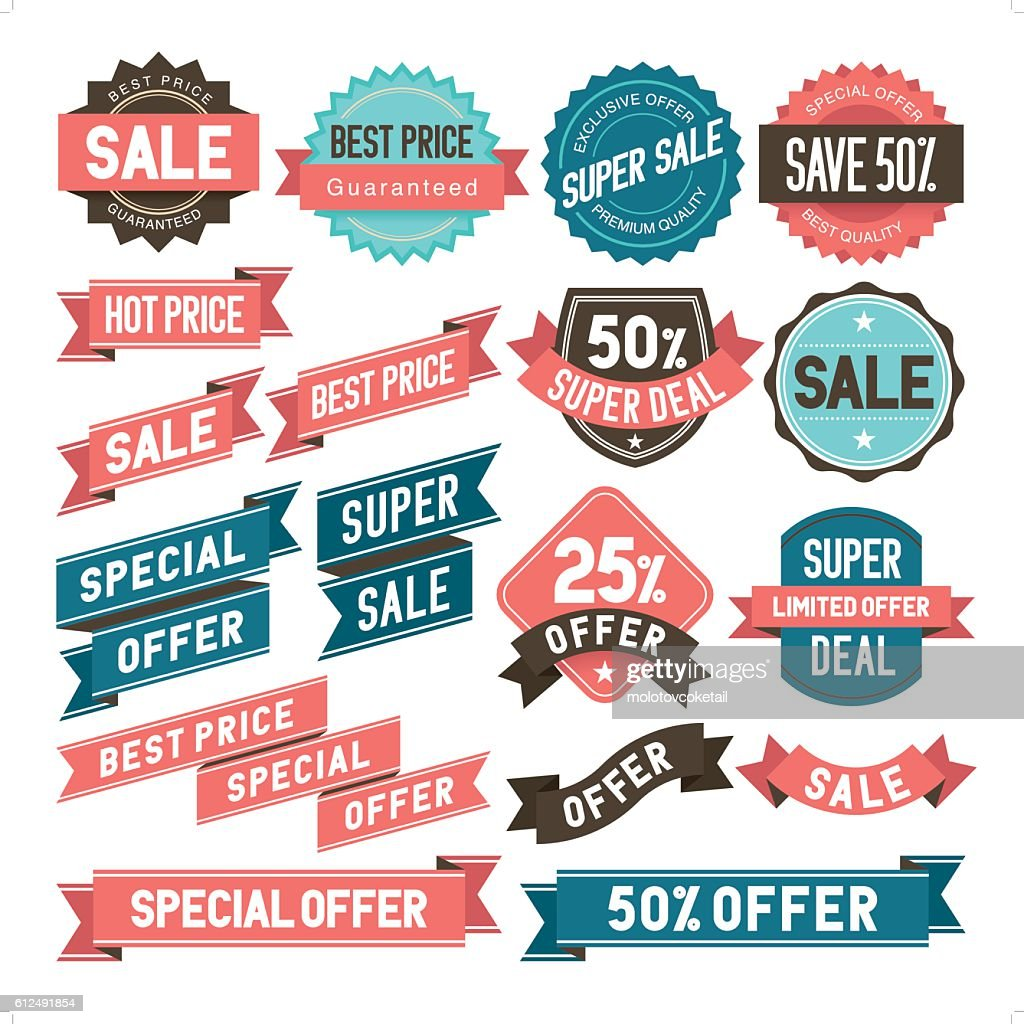 bargain & sale stickers