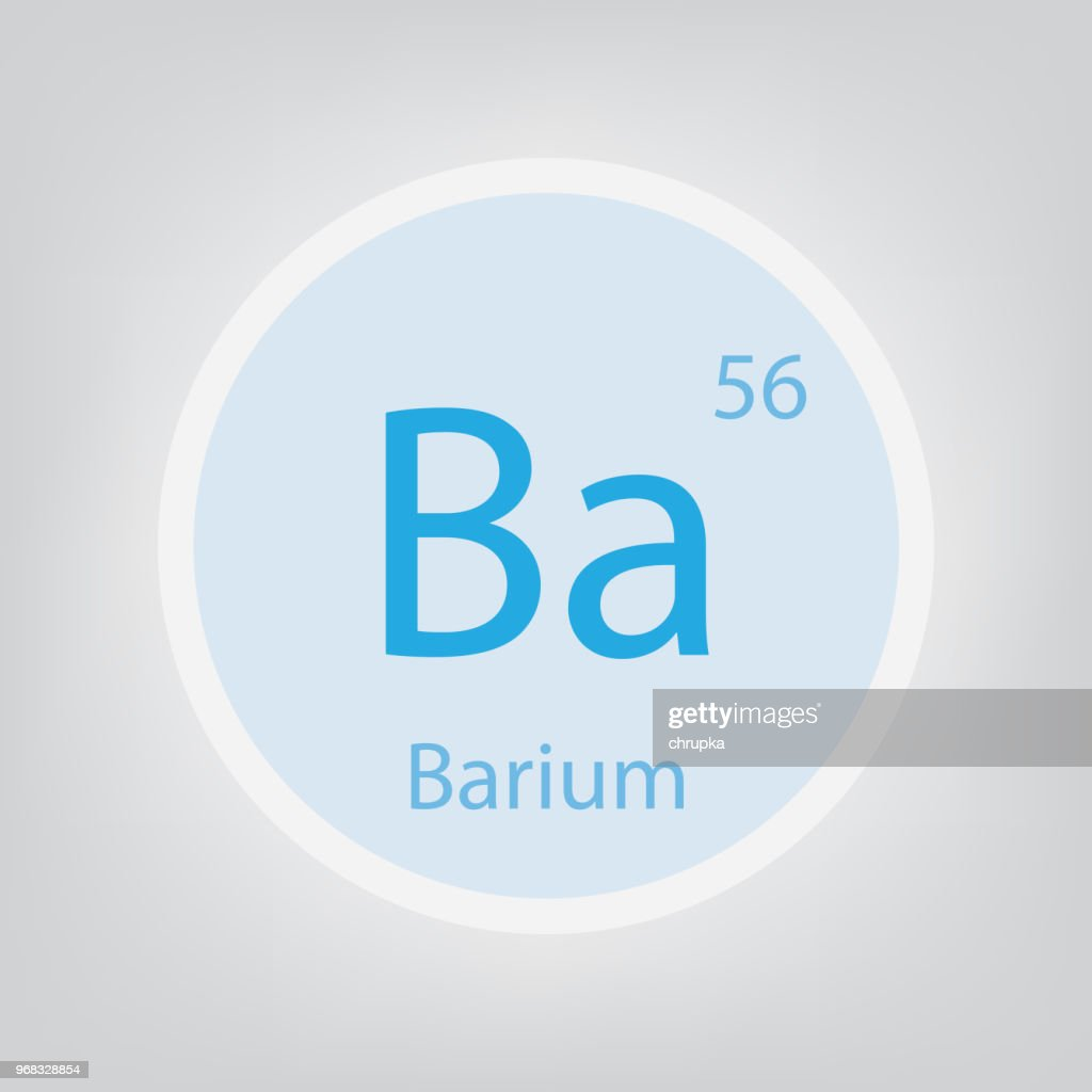 Barium Ba chemical element icon