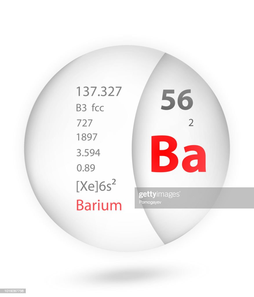 Barium icon in badge style