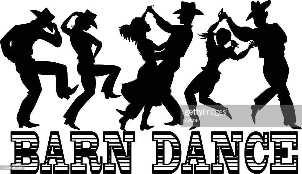 Barn Dance Silhouette