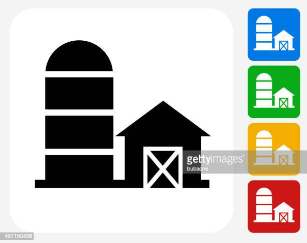 Barn Icon Flat Graphic Design