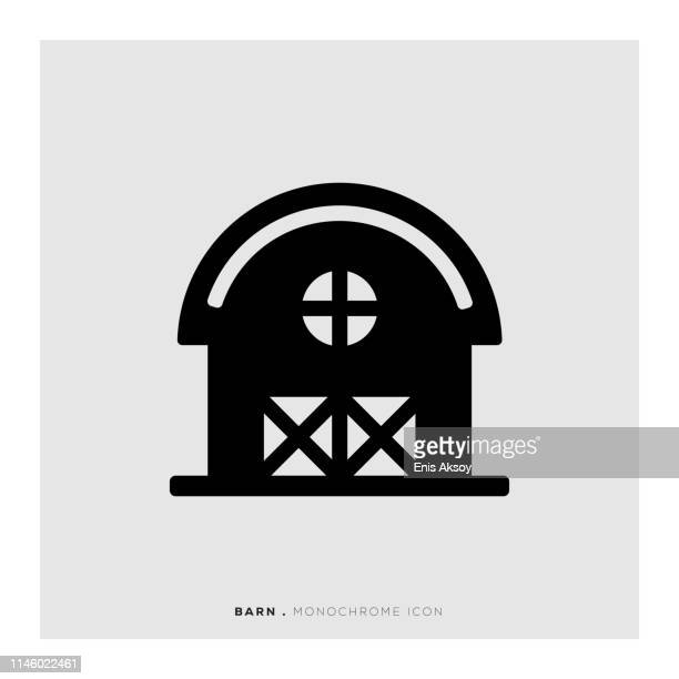 Barn Monochrome Icon