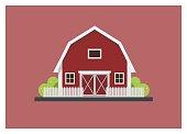 Barn simple isolated illustration