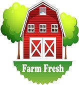 barnhouse with a farm fresh label