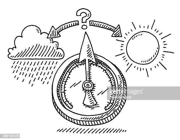 Barometer Weather Change Drawing