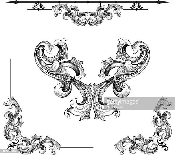 baroque assortment - gothic style stock illustrations, clip art, cartoons, & icons