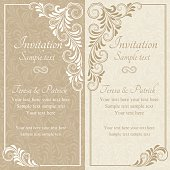 Baroque invitation, beige