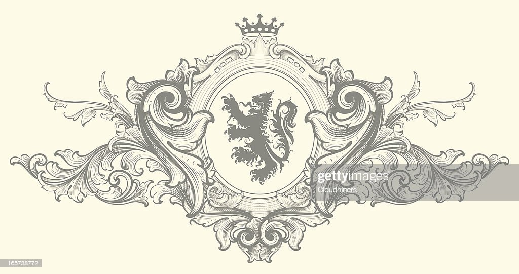 Baroque Nobility Coat of Arms : stock illustration