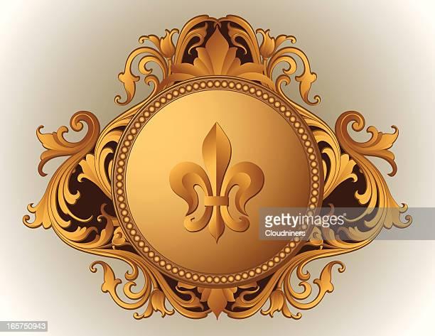 Baroque Ornate Frame fleur de lys