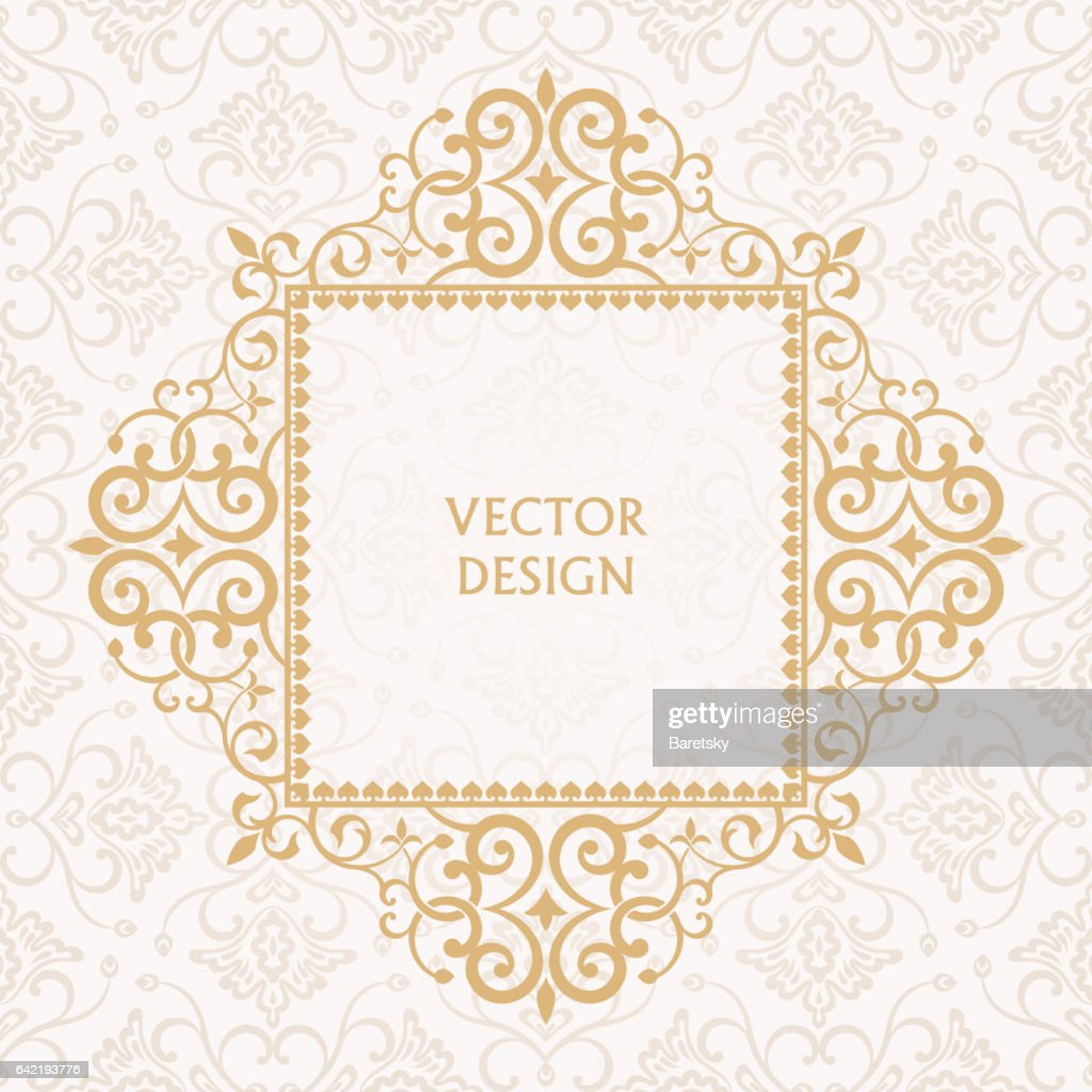 Baroque ornate frame with place for text