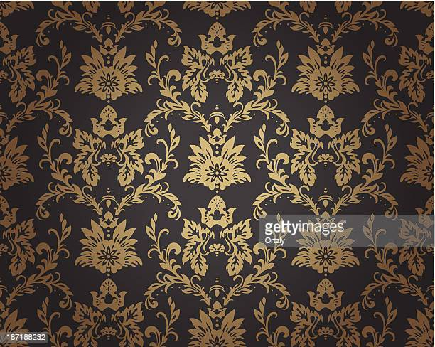 baroque pattern - luxury stock illustrations