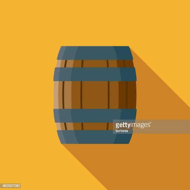 Barrel Flat Design Western Icon